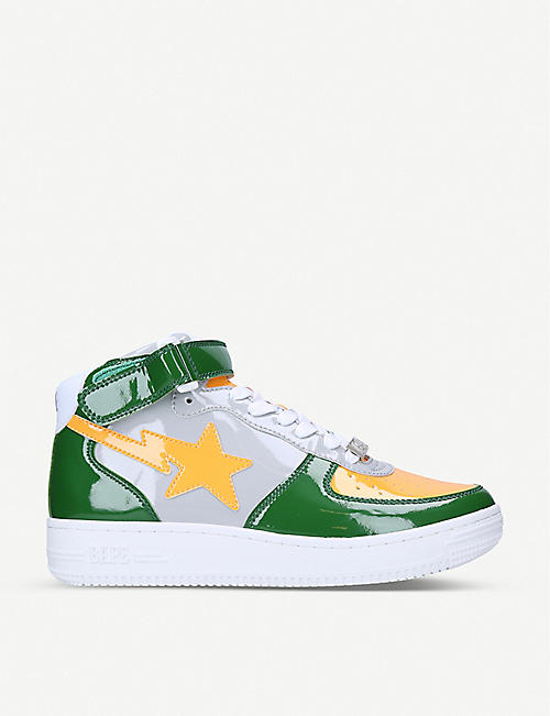 A BATHING APE M2 patent leather trainers