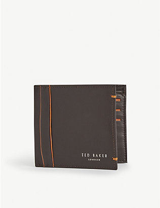 TED BAKER: Passing trifold highlight detail wallet