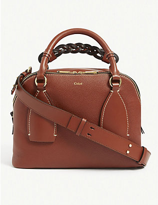 CHLOE: Daria medium leather tote bag