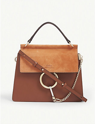 CHLOE: Faye small leather satchel