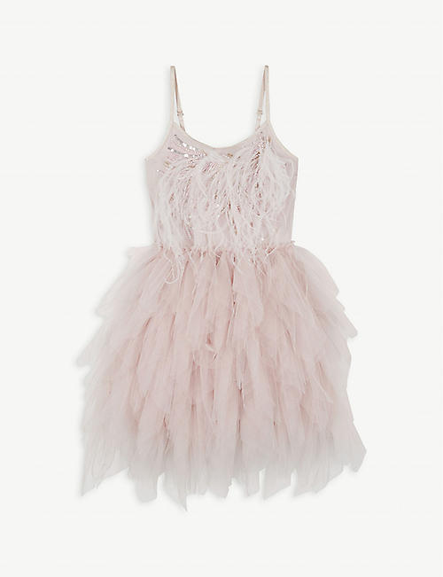 TUTU DU MONDE Willow feather pleated tulle dress 4-11 years