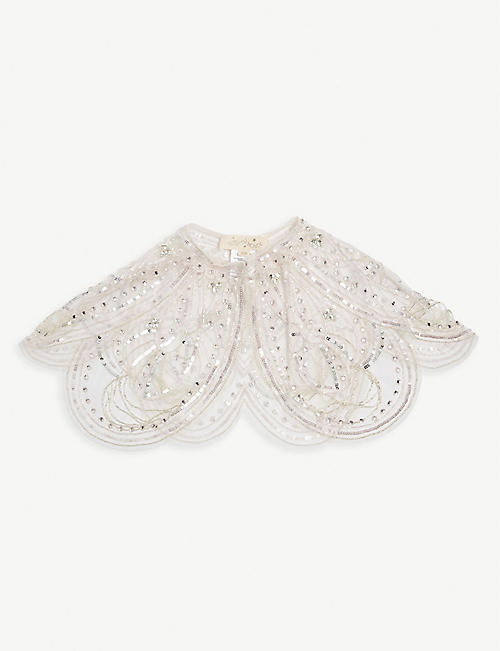 TUTU DU MONDE: Sequin embellished butterfly cape