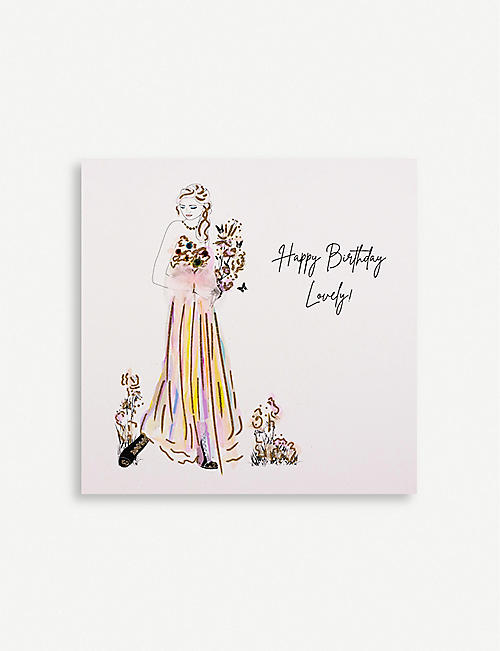 FIVE DOLLAR SHAKE: Happy Birthday Lovely greetings card 16.5cm x 16.5cm