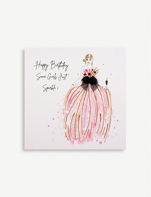 FIVE DOLLAR SHAKE Happy Birthday Some Girls Just Sparkle greetings card 16.5cm x 16.5cm