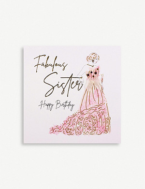 FIVE DOLLAR SHAKE Fabulous Sister Happy Birthday greetings card 16.5cm x 16.5cm