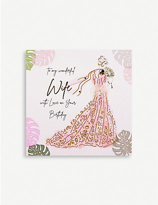 FIVE DOLLAR SHAKE: Wonderful Wife Love on Your Birthday greetings card 16.5cm x 16.5cm