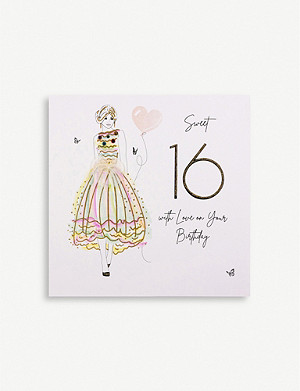 FIVE DOLLAR SHAKE Sweet 16 birthday greetings card 16.5cm x 16.5cm