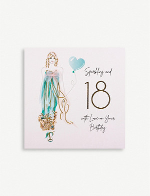 FIVE DOLLAR SHAKE Sparkling and 18 birthday greetings card 16.5cm x 16.5cm