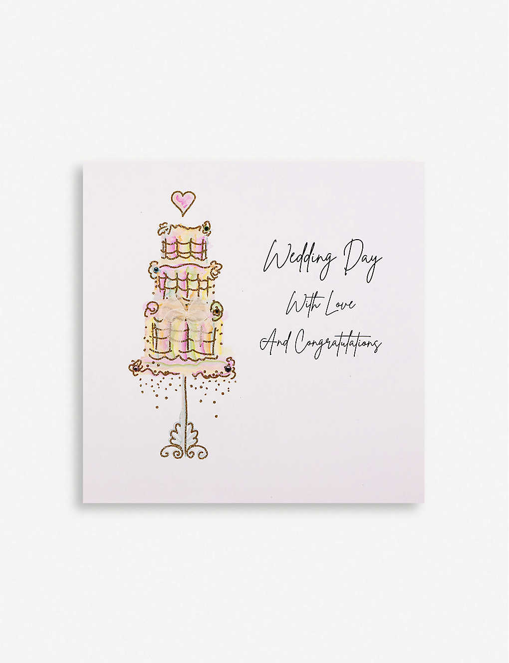 FIVE DOLLAR SHAKE: Wedding Day with Love greetings card 16.5cm x 16.5cm