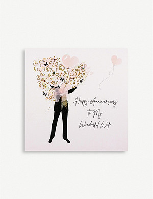 FIVE DOLLAR SHAKE Happy Anniversary to My Wonderful Wife greetings card 16.5cm x 16.5cm