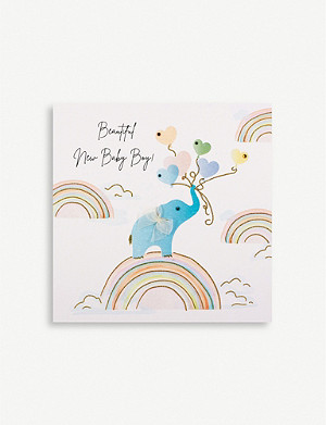 FIVE DOLLAR SHAKE Beautiful New Baby Boy greetings card 16.5cm x 16.5cm
