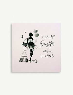 FIVE DOLLAR SHAKE To A Wonderful Daughter birthday greetings card 16.5cm x 16.5cm