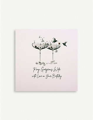FIVE DOLLAR SHAKE: To My Gorgeous Wife birthday greetings card