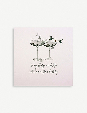 FIVE DOLLAR SHAKE To My Gorgeous Wife birthday greetings card