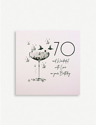 FIVE DOLLAR SHAKE: 70 and Wonderful birthday greetings card