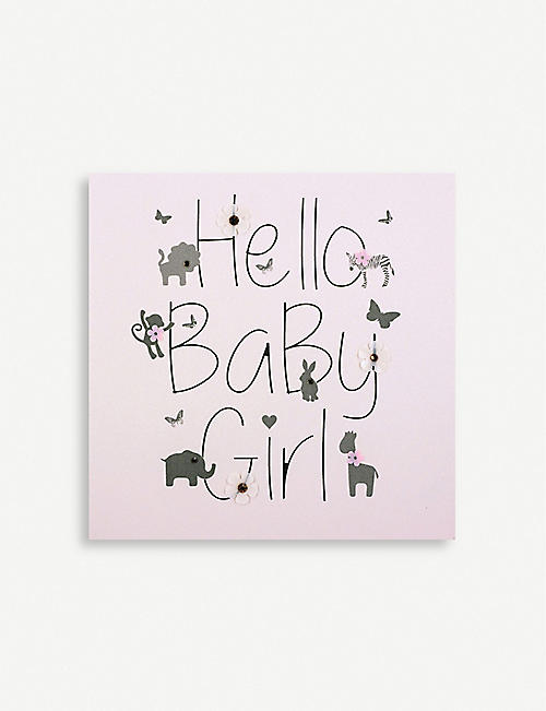 FIVE DOLLAR SHAKE: Hello Baby Girl greetings card