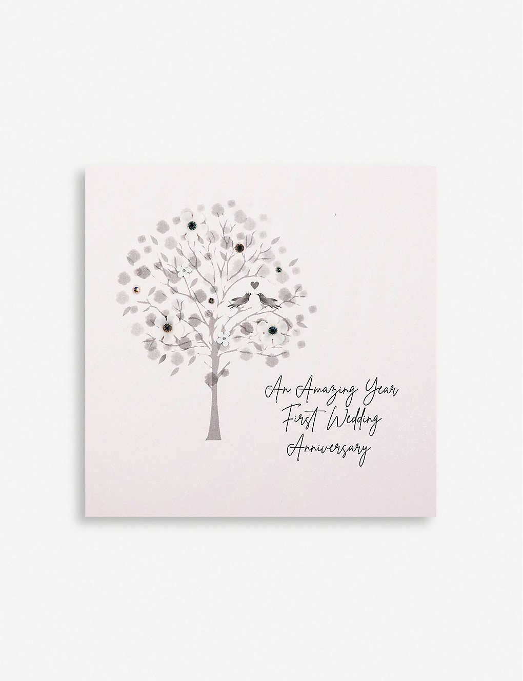 FIVE DOLLAR SHAKE: 1st Wedding Anniversary greetings card