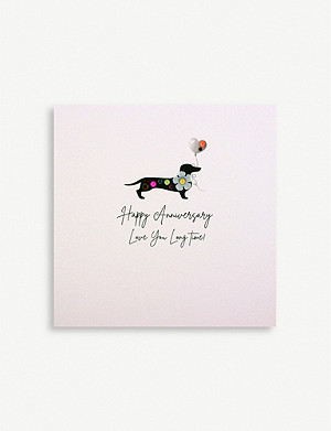 FIVE DOLLAR SHAKE Happy Anniversary Love You greetings card