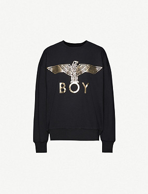 BOY LONDON Logo-print cotton-jersey jumper