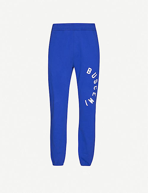 BUSCEMI Logo-print cotton-jersey jogging bottoms