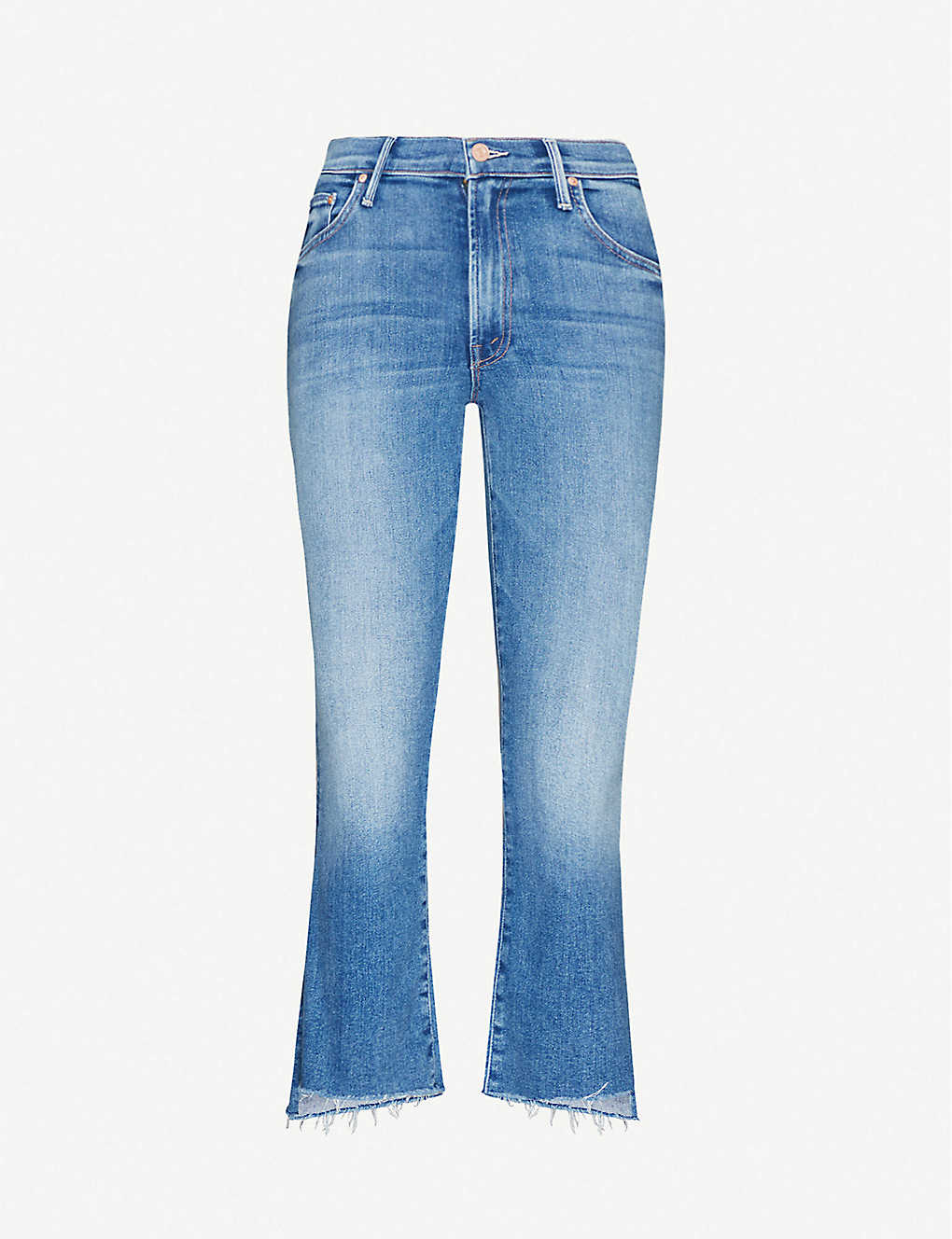 MOTHER: The Insider Crop high-rise stretch-denim jeans