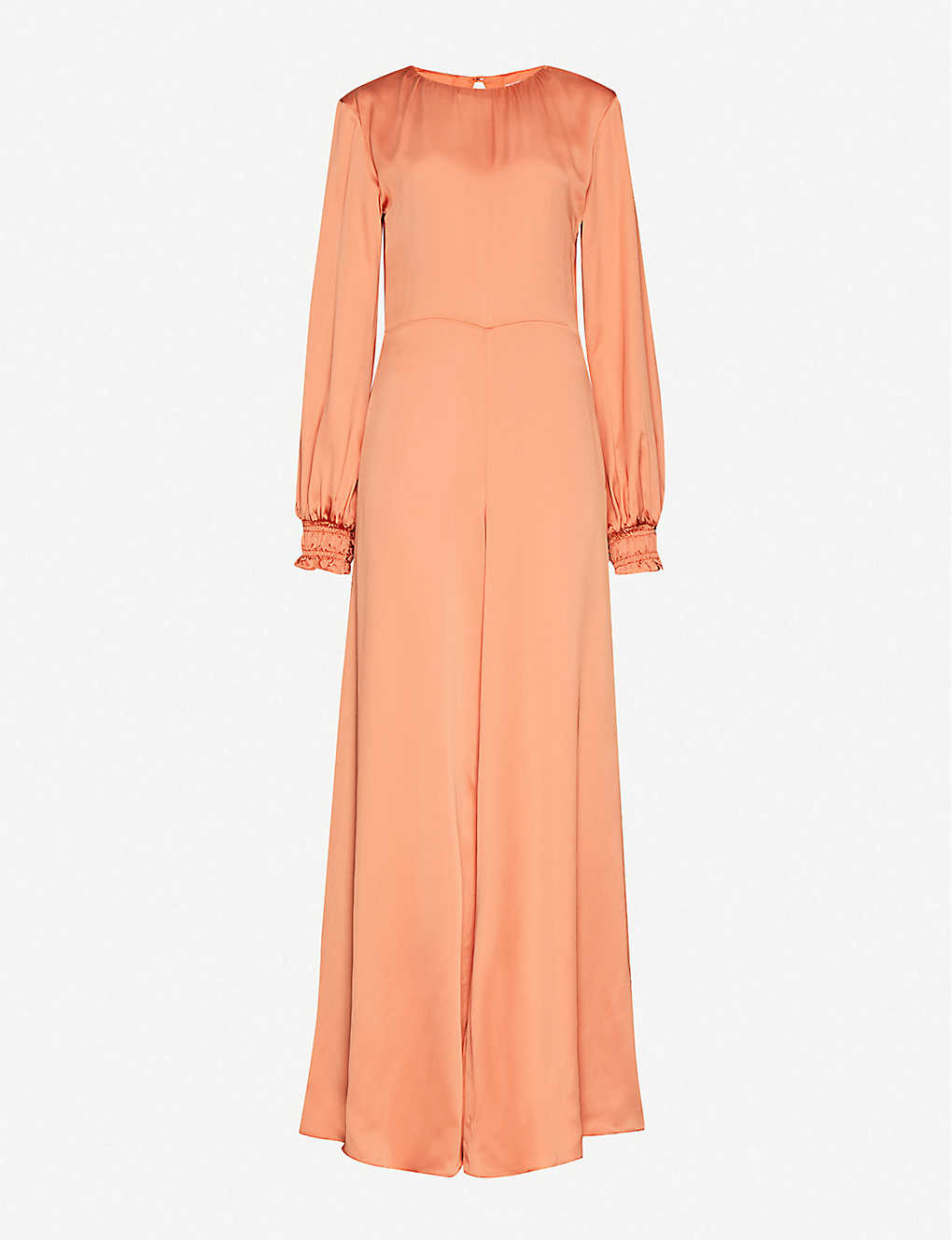 VANESSA COCCHIARO: Simone ruched-sleeve stretch-crepe jumpsuit