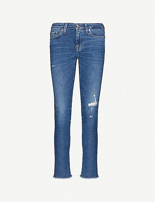 7 FOR ALL MANKIND: Pyper slim-fit skinny cropped jeans