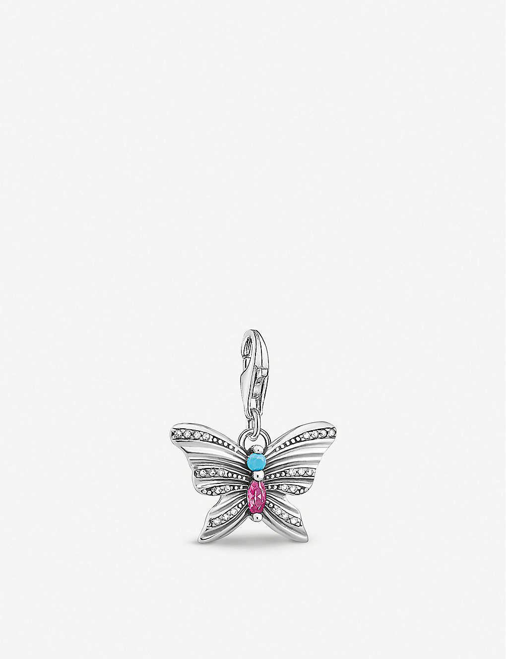 THOMAS SABO: Butterfly sterling silver charm