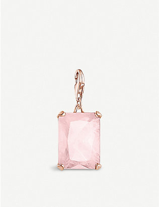 THOMAS SABO: Magic Stones rose gold-plated sterling silver and rose quartz charm
