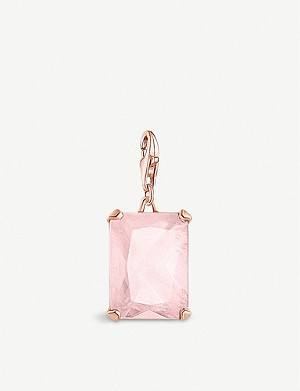THOMAS SABO Magic Stones rose gold-plated sterling silver and rose quartz charm