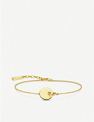 THOMAS SABO: Together Disc yellow gold-plated stainless steel bracelet