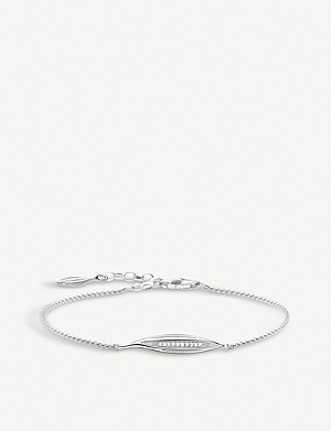 THOMAS SABO Magic Garden Leaf sterling silver and zirconia bracelet