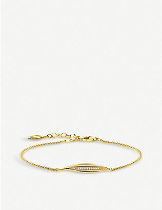 THOMAS SABO: Magic Garden yellow gold-plated sterling silver and cubic zirconia bracelet