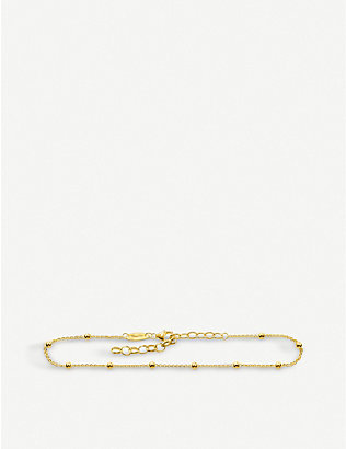 THOMAS SABO: Dots 18ct yellow-gold ankle bracelet