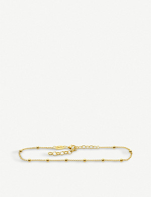 THOMAS SABO Dots 18ct yellow-gold ankle bracelet