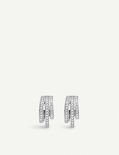 THOMAS SABO: Magic Garden retro hoop sterling silver and zirconia earrings