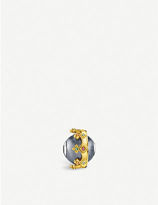 THOMAS SABO: Crown gold-plated sterling silver bead