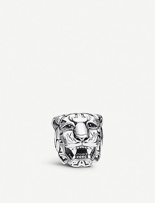 THOMAS SABO: Rebel Tiger sterling silver and zirconia charm bead