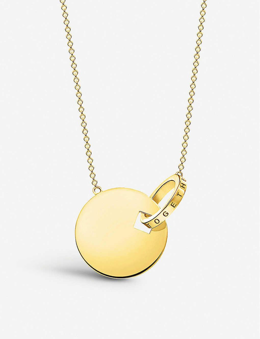THOMAS SABO: Together Forever 18ct yellow gold-plated necklace