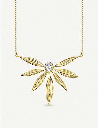 THOMAS SABO: Magic Garden yellow-gold sterling silver and zirconia necklace