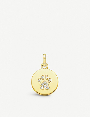 THOMAS SABO Magic Cat gold-plated sterling silver and zirconia pendant