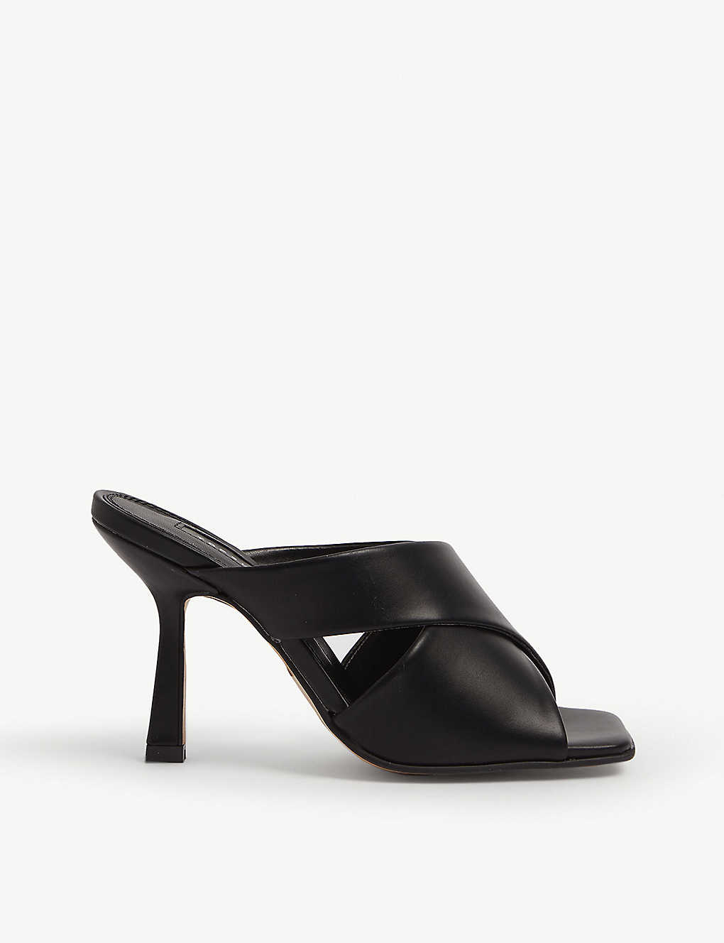 TOPSHOP: Skyla faux-leather heeled mules