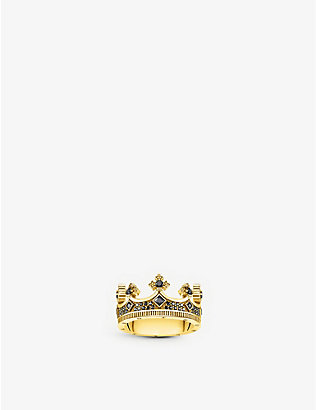 THOMAS SABO: Rebel Kingdom crown sterling silver and zirconia ring