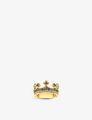 THOMAS SABO Rebel Kingdom crown sterling silver and zirconia ring
