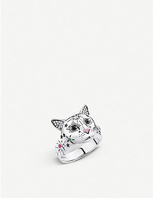 THOMAS SABO: Magic Cat sterling silver ring