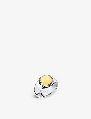 THOMAS SABO: Rebel at Heart sterling silver and yellow gold-plated signet ring