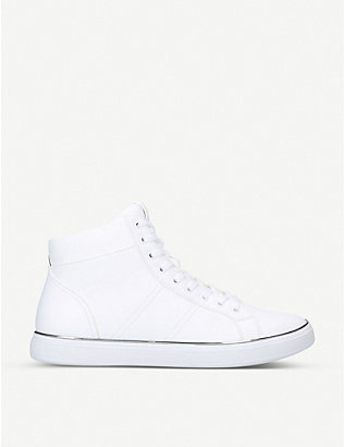 ALDO: Aiden high-top faux-leather trainers