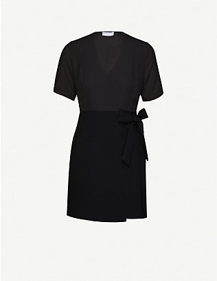 CLAUDIE PIERLOT: Wrap-over crepe mini dress