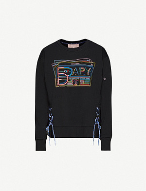 BAPY Embroidered-logo cotton-blend jersey jumper