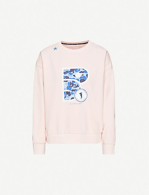 BAPY Logo-print cotton-blend jersey jumper